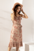 Load image into Gallery viewer, Cassandra-Floral-Print-Midi-Dress-1