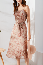 Load image into Gallery viewer, Cassandra-Floral-Print-Midi-Dress-3
