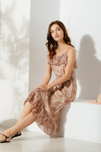 Load image into Gallery viewer, Cassandra-Floral-Print-Midi-Dress-4