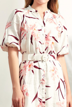 Load image into Gallery viewer, Thea-Linen-Shirt-Dress-Details