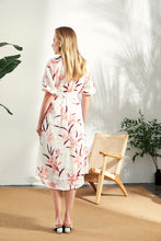 Load image into Gallery viewer, Thea-Linen-Shirt-Dress-Back-Full