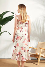 Load image into Gallery viewer, Thea-Floral-Linen-Midi-Dress-2