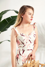 Load image into Gallery viewer, Thea-Floral-Linen-Midi-Dress-3