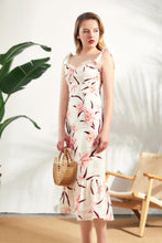 Load image into Gallery viewer, Thea-Floral-Linen-Midi-Dress-1
