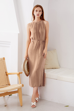 Load image into Gallery viewer, Cupro-Maxi-Dress-Beige-1