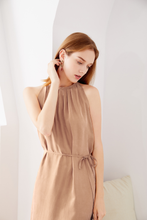Load image into Gallery viewer, Cupro-Maxi-Dress-Beige-2