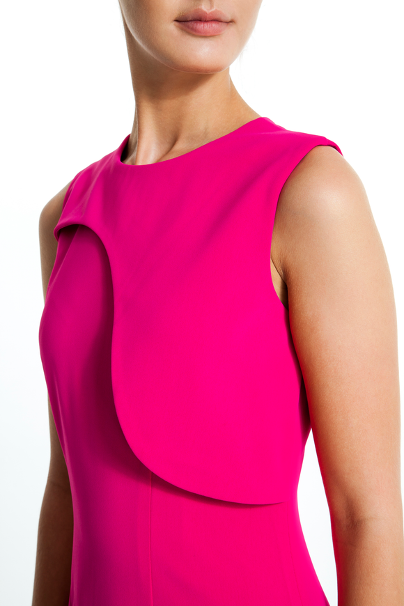 Flap-Panel-Sleeveless-Sheath-Dress-Fuchsia-Detailed