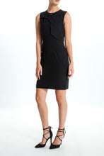 Load image into Gallery viewer, Flap-Panel-Sleeveless-Sheath-Dress-Full