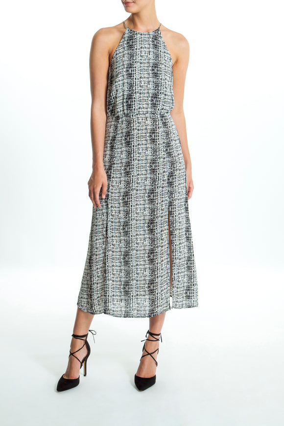 Andrea-Pattern-Black-Maxi-Dress-Main