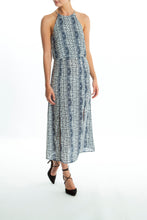 Load image into Gallery viewer, Andrea-Pattern-Blue-Maxi-Dress-Full
