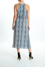 Load image into Gallery viewer, Andrea-Pattern-Blue-Maxi-Dress-Back