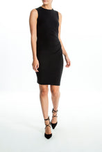 Load image into Gallery viewer, Intermax-Ruched-Black-Dress-Full
