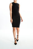 Intermax-Ruched-Black-Dress-Full
