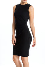 Load image into Gallery viewer, Intermax-Ruched-Black-Dress-Main