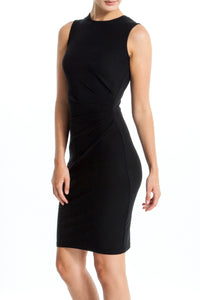Intermax-Ruched-Black-Dress-Main