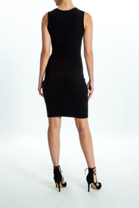 Intermax-Ruched-Black-Dress-Back
