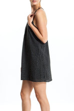 Load image into Gallery viewer, Eliza-Striped-Black-Dress-Side