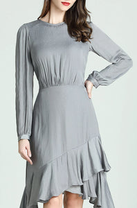 Lorraine-Polka-Dot-Dress-Grey-Details