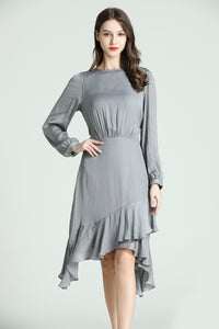 Lorraine-Polka-Dot-Dress-Grey-Main