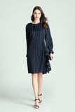 Elise-Striped-Dress-Navy-Length