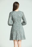 Natalia-Floral-Dress-Green-Back