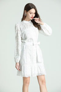 Sabrina-Embroidered-Short-Dress-White-Main