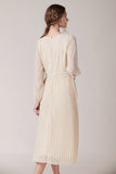 Camille-Pleated-Dress-Cream-Back
