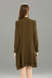Zegna-Shift-Dress-Khaki-Back