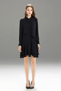 Zegna-Shift-Dress-Navy-Main