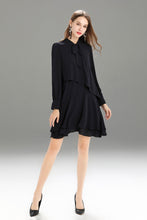 Load image into Gallery viewer, Zegna-Shift-Dress-Navy-Full