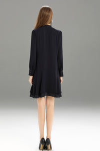 Zegna-Shift-Dress-Navy-Back