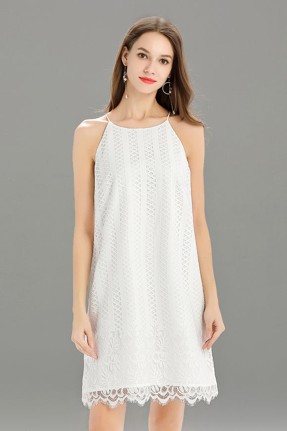 Helena-Lace-Shift-Dress-White-Main