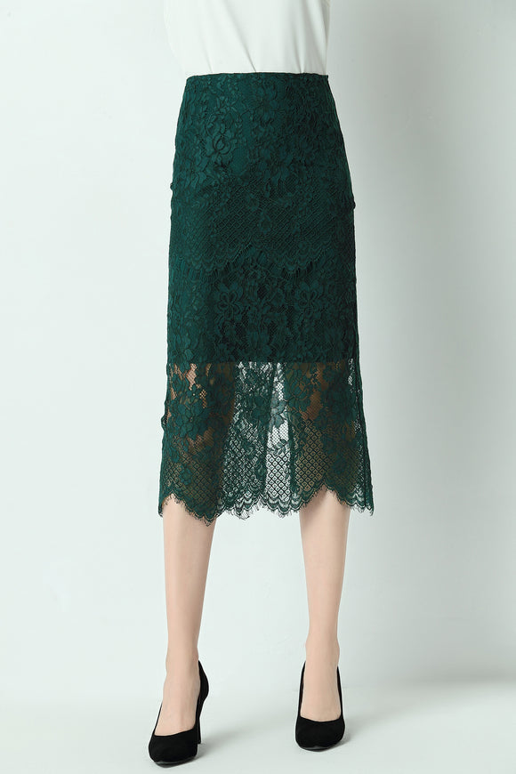 Alaya-lace-pencil-skirt-green-focus