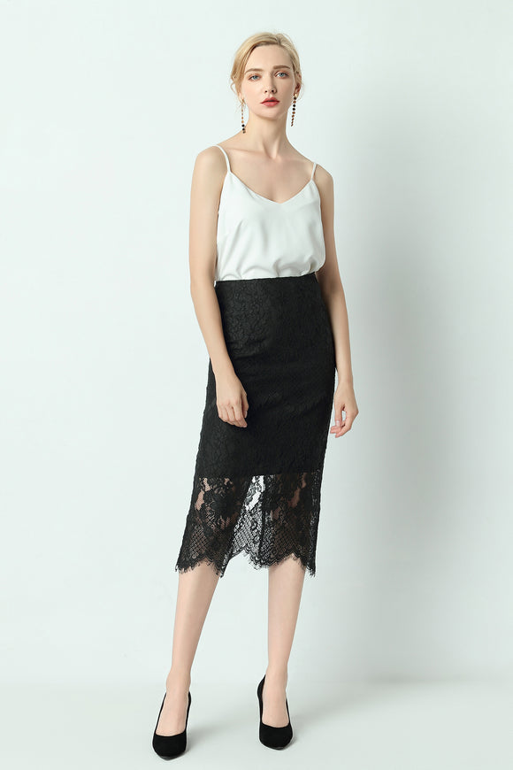 Alaya-Lace-Pencil-Skirt-Black-Main