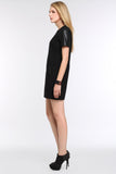 FAUX-LEATHER-SLEEVED-SHEATH-DRESS-BLACK-SIDE