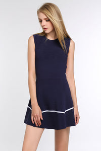 Royal-Blue-Two-Toned-A-Line-Dress-Focus