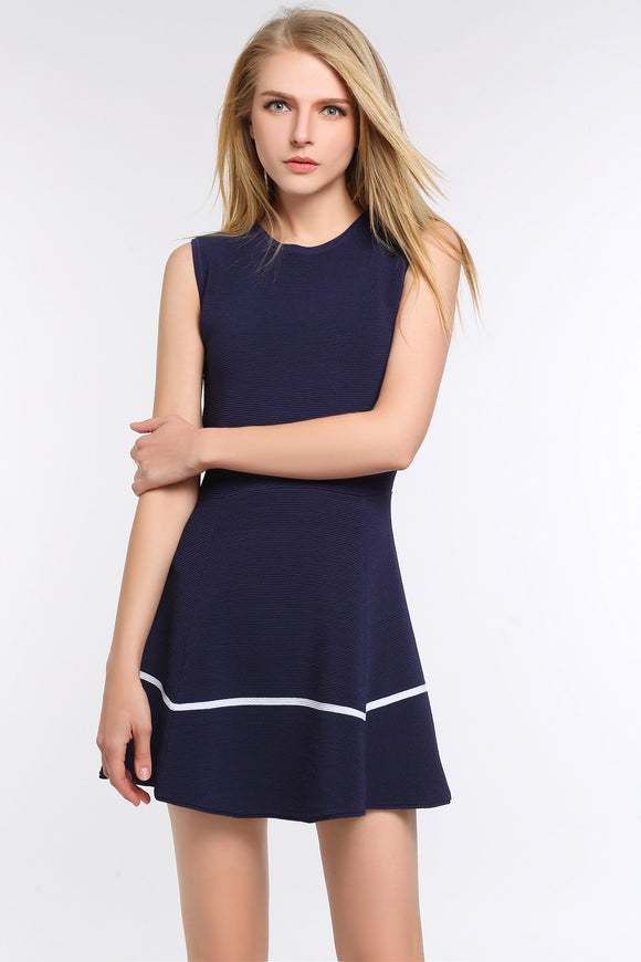 Royal-Blue-Two-Toned-A-Line-Dress-Main