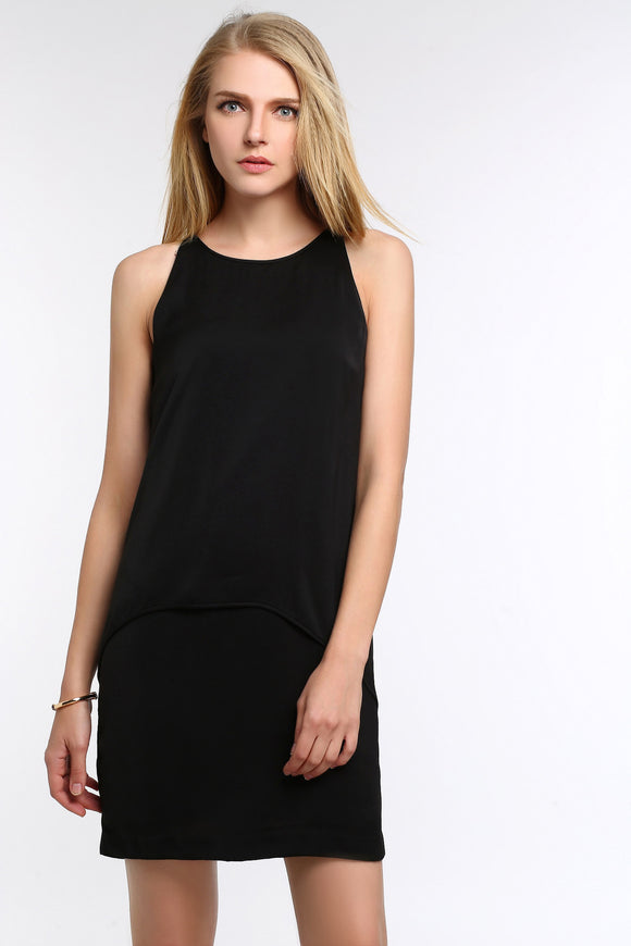 SLEEVELESS-TIERED-CHIFFON-DRESS-BLACK