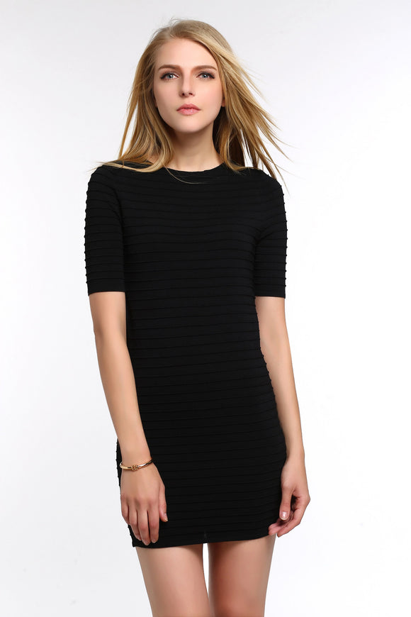 RIBBED-BODYCON-DRESS-BLACK