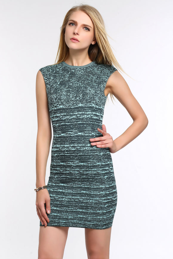 Stretch-Knit-Sleeveless-Bodycon-Dress-Dark-Green-Main