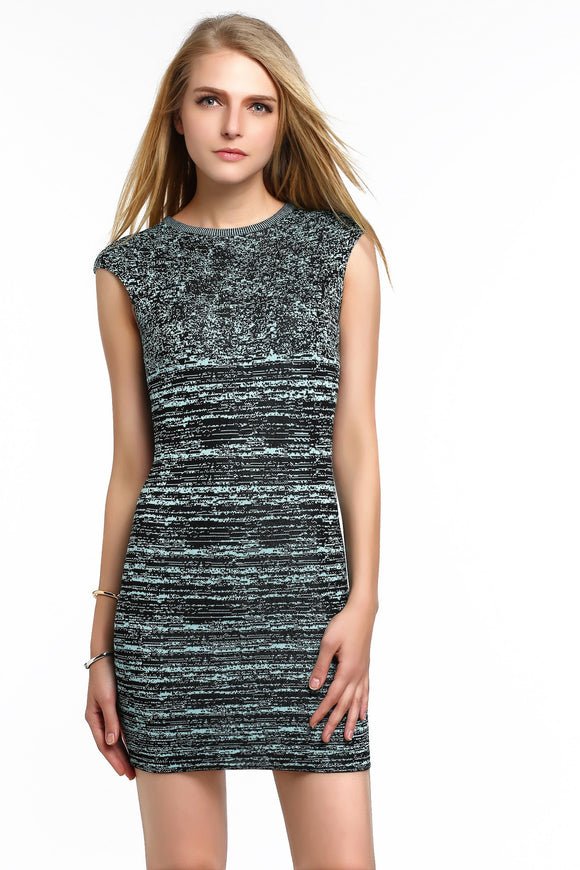 Stretch-Knit-Sleeveless-Bodycon-Dress-Black-Main