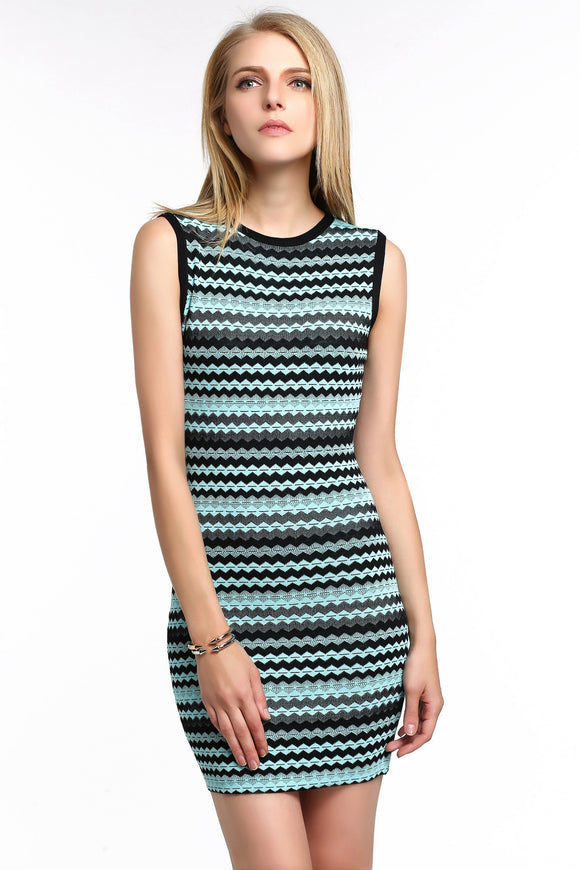 CHEVRON-STRIPED-KNIT-BODYCON-DRESS-BLUE-MAIN