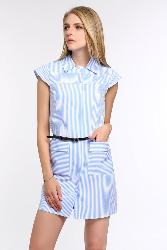 STRIPED-CAP-SLEEVE-SHIRT-DRESS-SKY-BLUE-MAIN