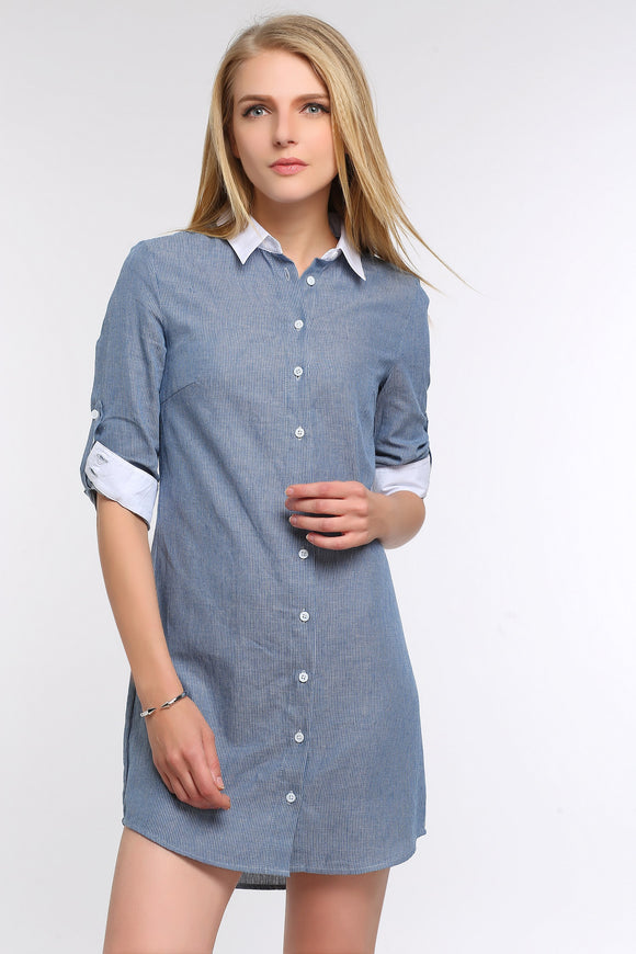 ROLL-TAB-SLEEVE-SHIRT-DRESS-MAIN