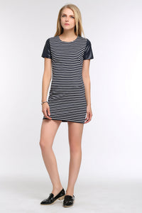 LEATHER-CAP-SLEEVE-TEE-STRIPED-DRESS-FULL