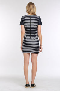 LEATHER-CAP-SLEEVE-TEE-STRIPED-DRESS-BACK