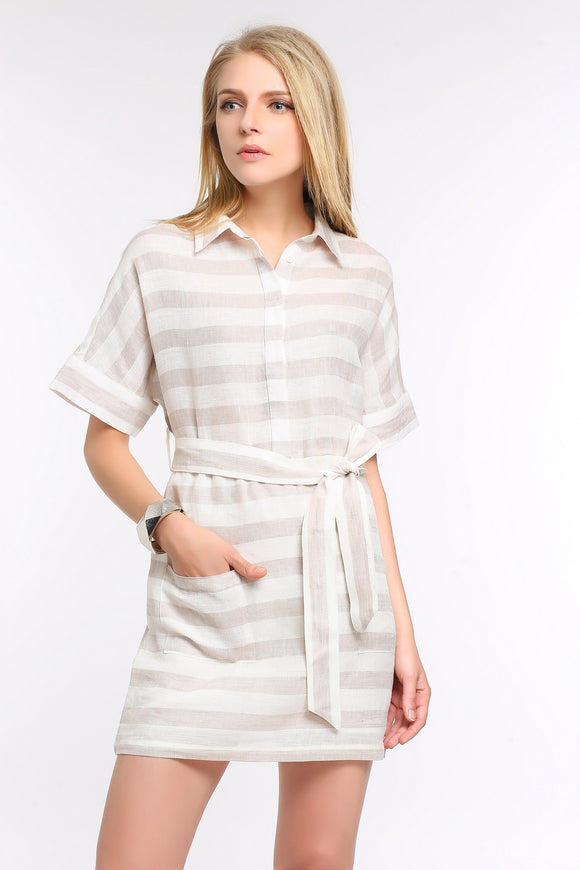 BELTED-LINEN-SHIFT-DRESS-BEIGE-MAIN