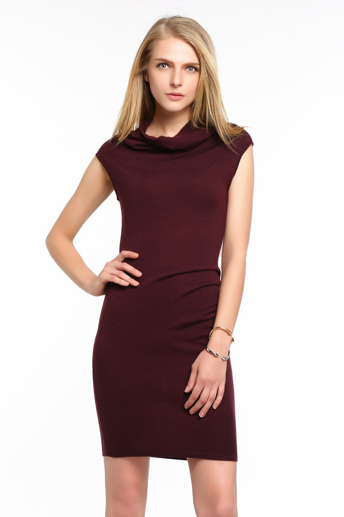 COWL-NECK-KNIT-BODYCON-DRESS-RED-WINE