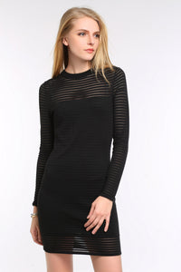 STRIPED-DRESS-WITH-SHEER-DETAILING-BLACK