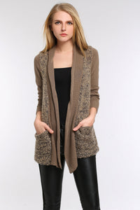 MULTI-PATTERN-OPEN-FRONT-KNIT-SWEATER-BEIGE